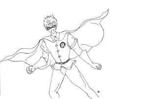 """Taku"" cosplaying Robin. Dibujo de oído por ""Katu"" Raigorodsky."