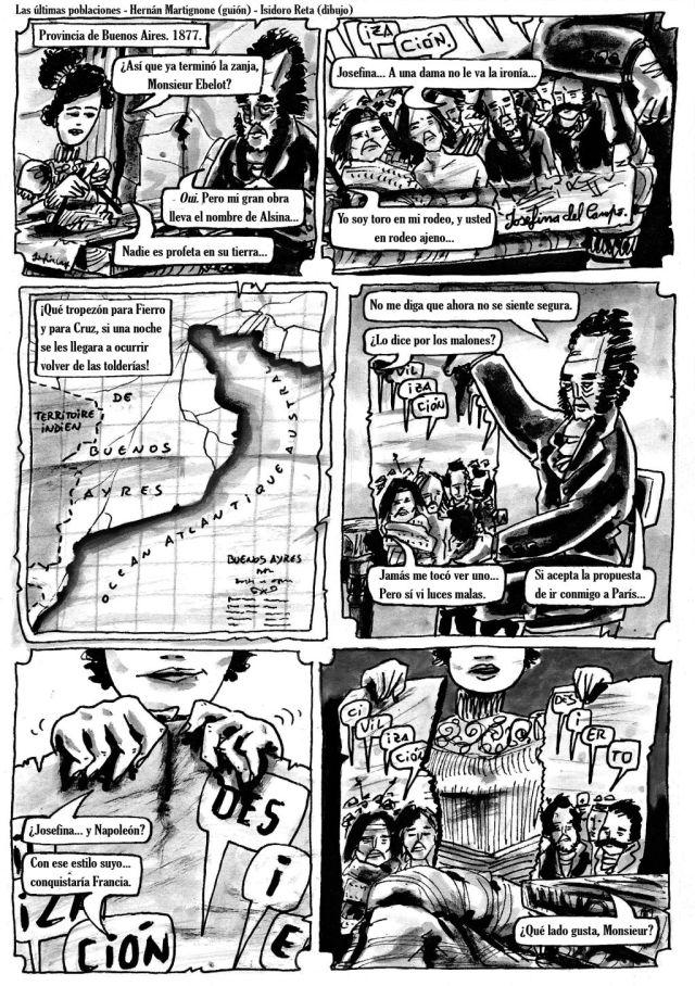Las últimas poblaciones_Hernán Martignone (guión), Isidoro Reta (dibujo)