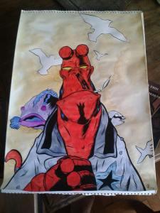 Ilustración de Hellboy por Diego Rey