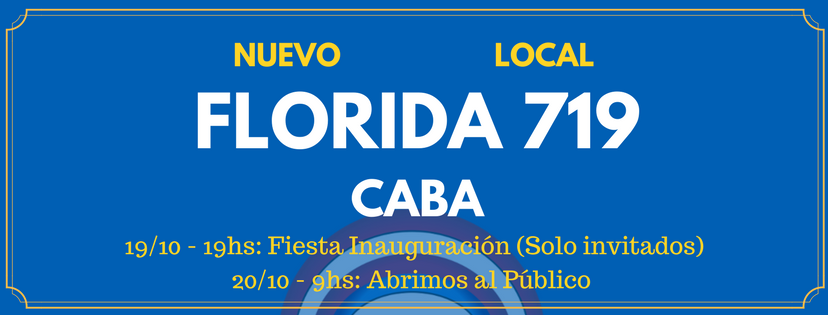 "20/10: Inauguración del local ""La Revistería: comics & coffee"" – Florida 719 (CABA)"